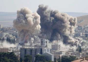 File pic - US-led coalition launched airstrike in...