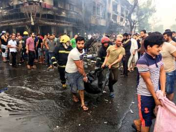 Twin suicide bombings in Baghdad kills 28 - India...
