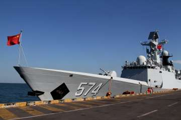 Taiwan says Chinese warships passed south of...