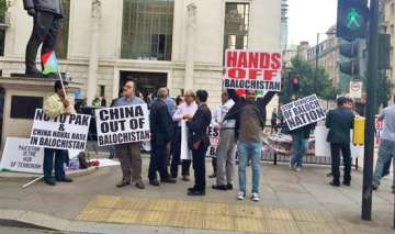 Baloch activists protest outside Chinese Embassy