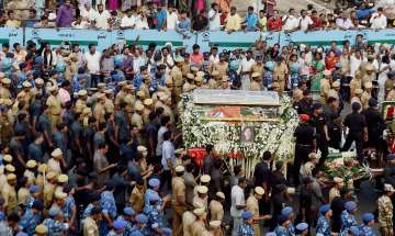 J Jayalalithaa laid to rest with full state...