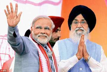PM Modi with PS Badal
