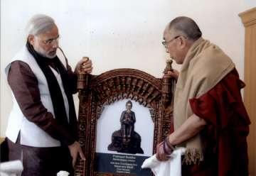 PM Modi with Dalai Lama