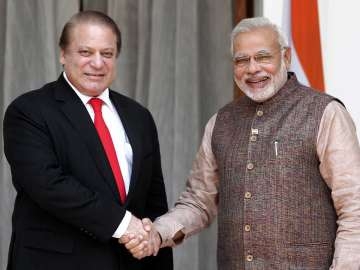Nawaz Sharif with PM Modi