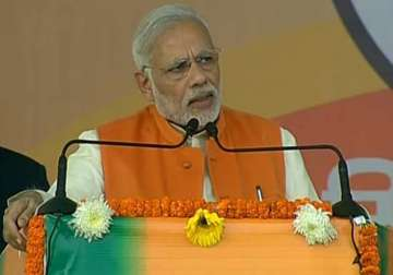PM Modi addresses BJP's 'parivartan rally'...