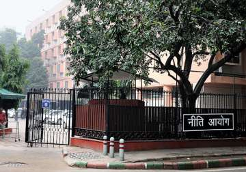 File pic - An outside view of NITI Aayog office...