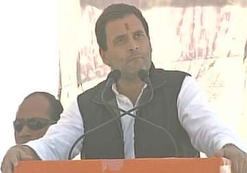 Rahul Gandhi addressing a rally in Almora -...
