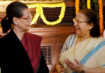 File pic - Sonia Gandhi meets LS Speaker over...