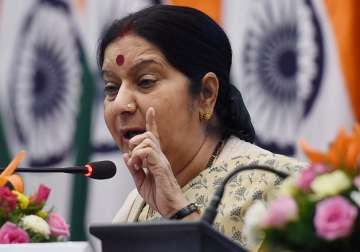 File pic of External Affairs Minister Sushma...