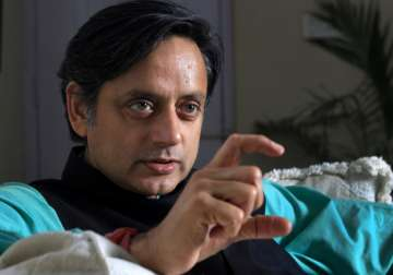 File pic of Congress leader Shashi Tharoor -...