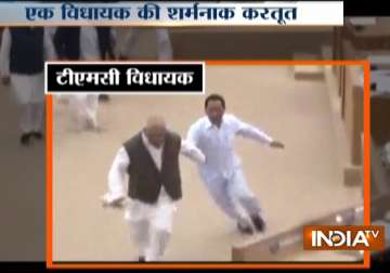 Watch: TMC MLA hits new low, runs away with...
