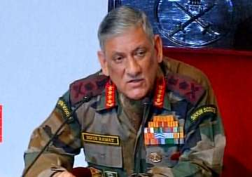 Army Chief Bipin Rawat speaks to media in New...
