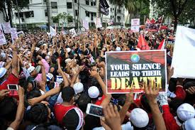 Protests against alleged inaction of the State...