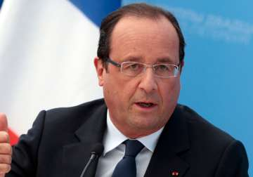 File pic - French President Francois Hollande -...
