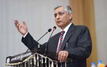 Justice TS Thakur speaking at his farewell...