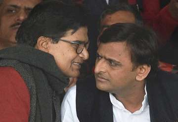 Ram Gopal and Akhilesh Yadav at national...