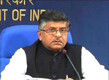 Law Minister Ravi Shankar Prasad - India TV