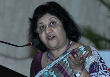File pic of SBI Chairperson Arundhati...