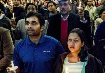 A vigil was held to celebrate life of Srinivas...