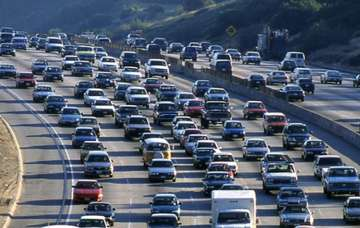 Los Angeles is most traffic clogged city in world...