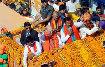 Amit Shah held road show on the last day of...