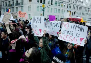 File pic - Thousands protest against Trump's...