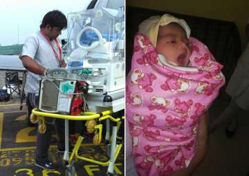 8-day-old girl child from Assam was suffering...