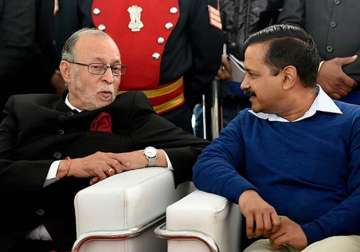 File pic of Anil Baijal and Arvind Kejriwal -...