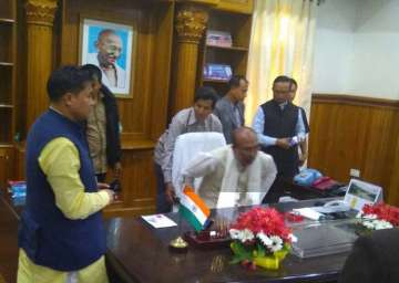Biren Singh takes charge as the new CM of...