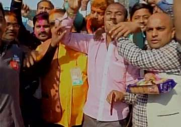 BJP credits PM Modi for party win, workers erupt...