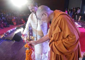 Dalai Lama at International Buddhist Conference...