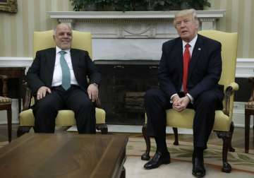 President Trump meets with Iraqi PM Haider...
