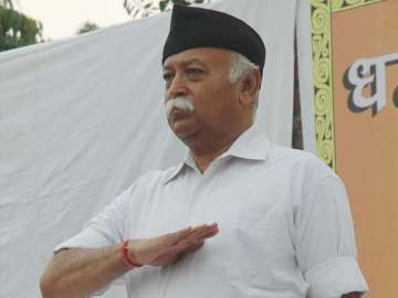 File pic of RSS chief Mohan Bhagwat - India TV