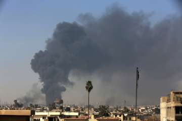 Islamic State-held Mosul has been completely...