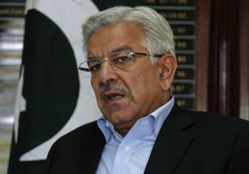File pic of Pakistan's Defence Minister Khawaja...