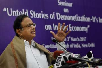 Chidambaram said he does not think re-election is...
