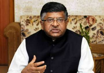 File pic of Union Minister Ravi Shankar Prasad -...