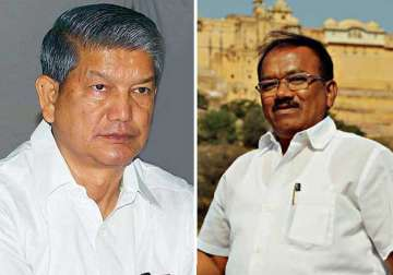 Harish Rawat and Laxmikant Parsekar