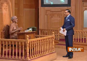 Jain Muni Tarun Sagar in Aap Ki Adalat - India TV