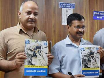 Kejriwal, Sisodia releasing party manifesto for...