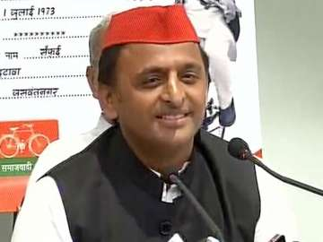 File pic of SP national president Akhilesh Yadav...