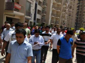 Arihant Arden residents protest against poor...