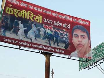 One booked after banners asking Kashmiris to...