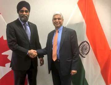 Canadian Defence Minister began his India visit...