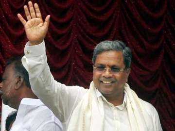 File pic of Karnataka Chief Minister Siddaramaiah...