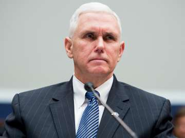 File pic of US Vice President Mike Pence - India...