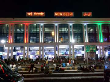 File pic - An outside view of New Delhi Railway...
