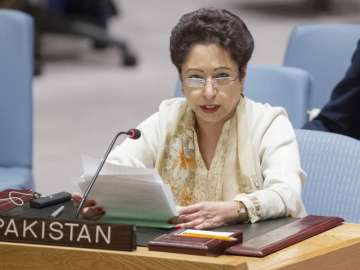 File pic of Pakistan's envoy to the UN Maleeha...