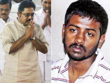 File pic of TTV Dinakaran and Sukesh Chandrasekar...