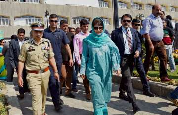 Mehbooba Mufti heckled by women at function -...